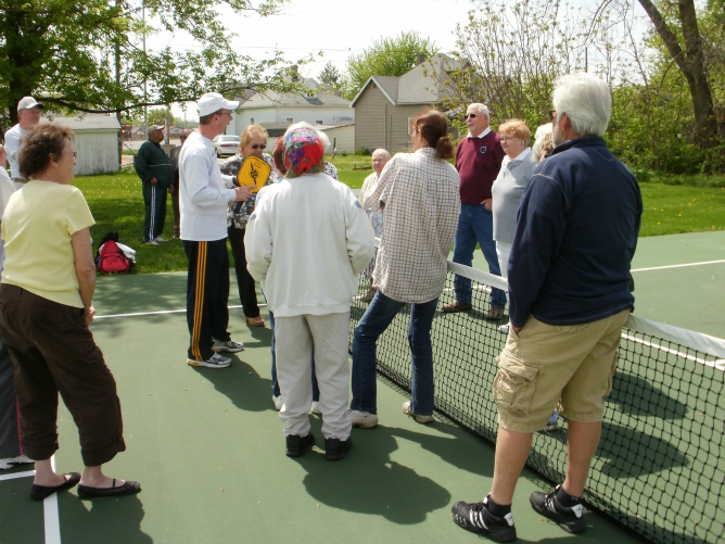 Rushville Indiana pickleball court dedication