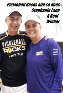 Stephanie Lane - Pickleball Rocks Player of the Month