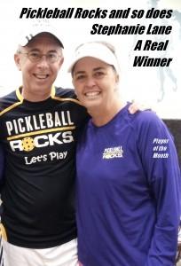 Stephanie Lane - Pickleball Rocks Player of the Month
