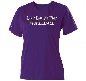 Live Laugh Play Pickleball Ladies Dri Fit Shirt