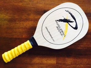 Pickleball Rocks Wooden Paddle