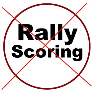 No Rally Scoring in Pickleball