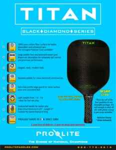 Titan Pro Pickleball Paddle