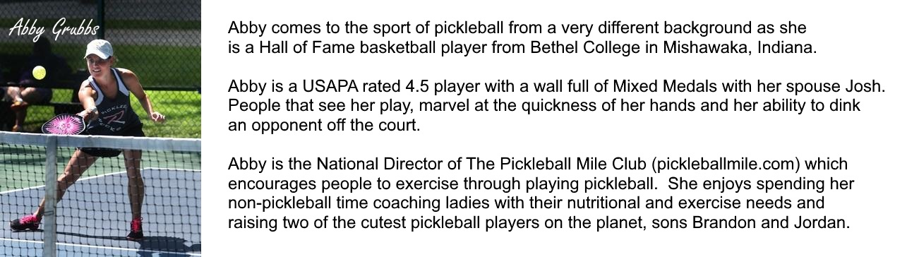 Abby Grubbs Pickleball Bio