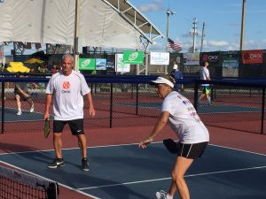 Marcus Luke and Stephanie Lane teaming at the 2017 US Open Pickleball Championships
