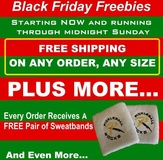 Pickleball Rocks Black Friday Sales Begin NOW